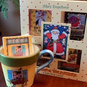 Mary Engelbreit mug/planter with library NWOT ❣️